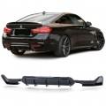 Difuzor dublu negru lucios  BMW 4er F32  F36