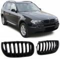Grile negre lucios BMW X3 E83 (03-06)