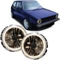 Faruri angel eyes  negre VW Golf 1 Cabrio