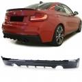 Difuzor negru lucios  BMW 2er Coupe F22 (13+)