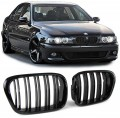Grile duble M look BMW 5er E39 Limo Touring (95-03) negru lucios