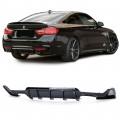 Difuzor dublu  negru lucios BMW 4er F32 F36  13+)