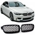 Grile Diamant Exclusiv Optik negru/Crom BMW 3er F30 F31 (11-15)